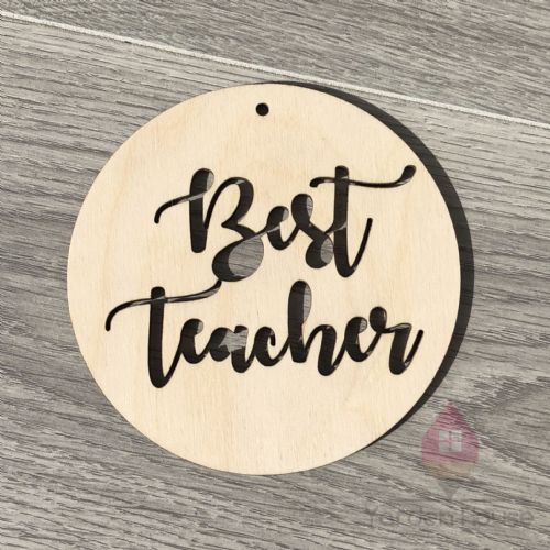 Best Teacher hanging plaque